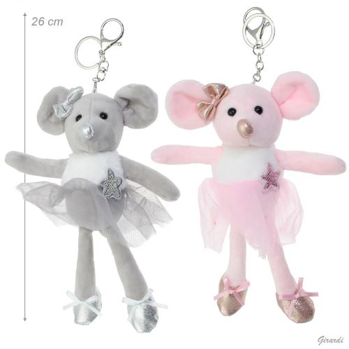 """Přívěsek na klíče """"myška baletka"""""""