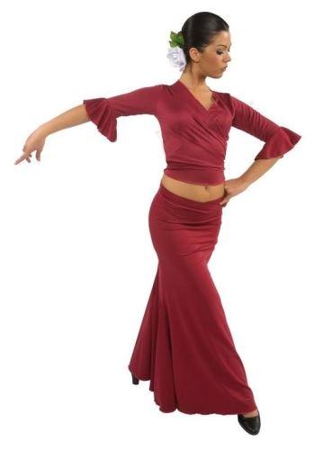 Sukně na flamenco s vsadkami