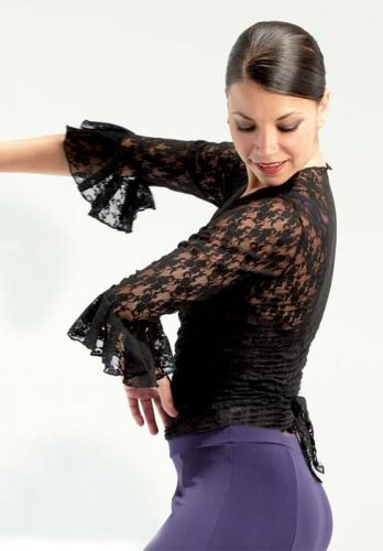 Krajkovaný vršek na flamenco
